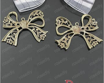 5 charms bronze 43 * 37MM Bow D25437