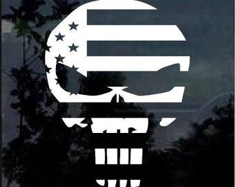Punisher 3% Skull Flag Vinyl Window Decal Sticker a2