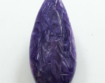 22.00 cts natural purple Charoite gemstone, smooth cabochon, pear shape, size 15x33x5 mm, designer cabochon, high quality loose gemstone