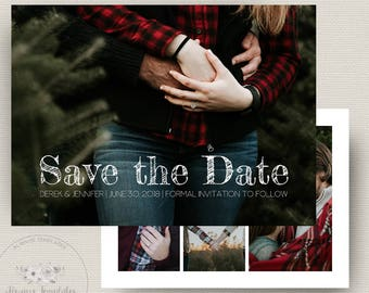 Save The Date Template, Save The Date Card Template, Save The Date Instant Download, Printable Save The Date, PSD Template, 5x7 Flat Card