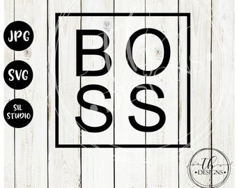 Boss Svg, Mom Svg, Svg Files, Mug Svg, Tshirt Svg, Silhouette Svg, Cricut Svg, Svg Cut Files, Boss Svg File, Boss Cutting File, Svg Cut File