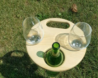 Wine Table for the Lawn or Beach