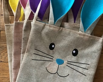 Easter Bunny Bag, gift bag, gift wrap, sack, personalized, custom bag for Easter gifts, customized Easter bag, Bunny bag