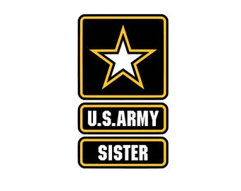 US Sister SVG and Studio 3 Cut File Decal Cut Files Logo Military Silhouette Cricut Decals Cuts Logos United States of America Army