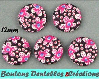 Buttons covered with Liberty - Speckle B - 12mm