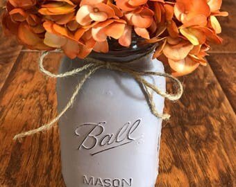 Lighted Distressed Mason Jar-English Lavender