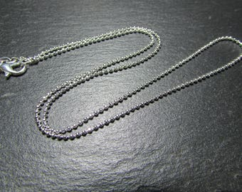 1 mesh 925 sterling silver Bead Necklace