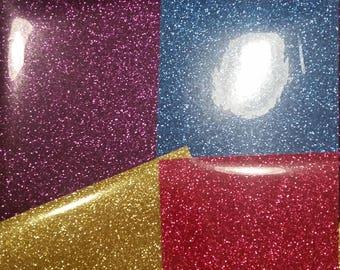 6 Sheets Glitter Heat Transfer Vinyl