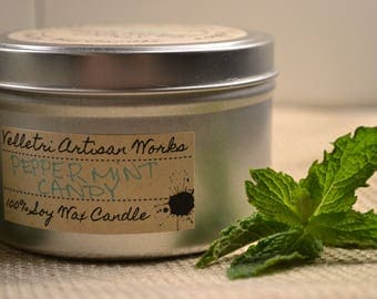 Natural Soy Candles / Soy Wax Candles / Hand Poured Candles / Fall Scents / Winter Scents / Tin Containers by Velletri Artisan Works