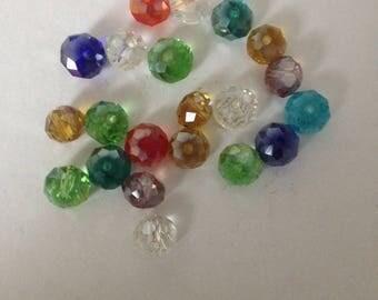 Set of multi color plastic beads