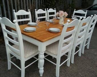 Stunning 7ft Farmhouse Shabby Chic table set