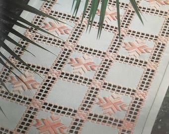 PDF Hardanger Embroidery White Table Runner
