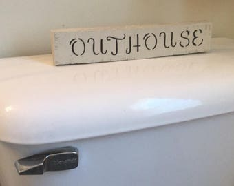 Wood Outhouse Sign