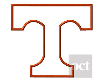 6 Size* Tennessee Volunteers Applique Embroidery Designs Football Embroidery Designs PES Football Logo College Football - Instant Download