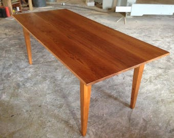 Reclaimed Heart Pine Harvest Table