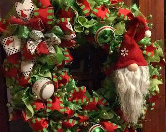 Gnome Christmas Wreath