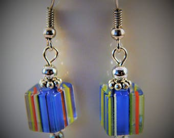 Fresh Colors Cane Glass Earrings