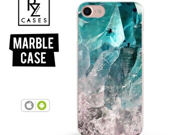 Amethyst Crystal Phone Case, Turquoise Crystal, iphone 7, Gemstone, Marble Case, iPhone 6s, iPhone, iPhone 5, iPhone 6 Plus, Samsung Galaxy