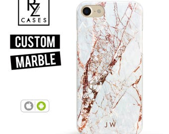 Rose Marble Phone Case, Marble iPhone 7 Case, Personalized Gift for Her, iPhone 7 Plus Case, iPhone 6S Case, Personalized Gift, Custom Case
