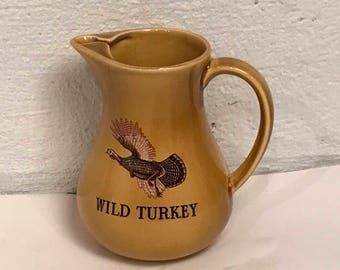 """2 Wild Turkey pitchers- 8"""" height"""