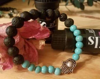 Hamsa Hand diffuser bracelet