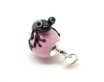 Lampwork frog  bead pendant  - froggy - christmasspecial