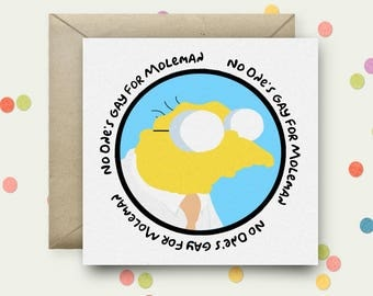 Hans Moleman Square Pop Art Card & Envelope