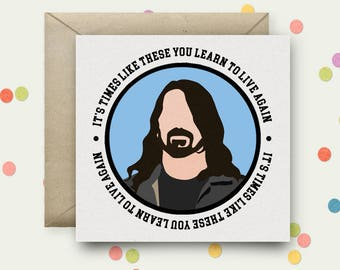 Dave Grohl Square Pop Art Card & Envelope
