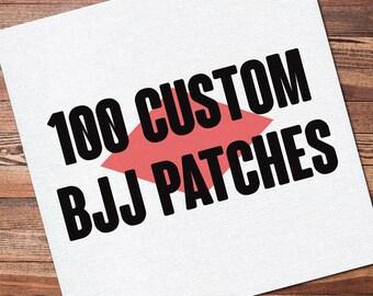 "100 Custom Full Color Brazilian Jiu Jitsu Patch for your Gi Kimono Uniform BJJ, Grappling, Martial Arts and MMA 12"" x 12"""
