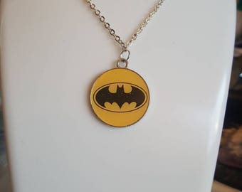 Batman INSPIRED necklace/keyring