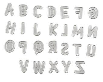 Buchstaben Schablone Metall : metall buchstaben schablone etsy ~ Frokenaadalensverden.com Haus und Dekorationen