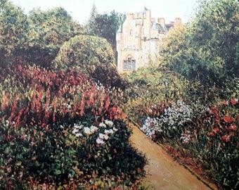Crathes Castle - print from an original artwork. By Scottish artist Robert J. Gould.