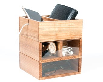Charging Station,Organizer Desk Docking station,Desk Organizer,Desk organizers wood,Holder Wooden Organizer,Desk Tray Organizer