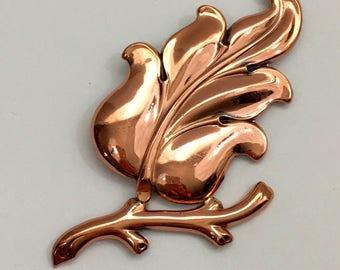 Renoire Matisse Maderia Bronze Brooch