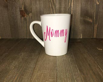 Mommy 14 oz. Coffee Tea Cocoa mug personalize customized gifts under under 20.00