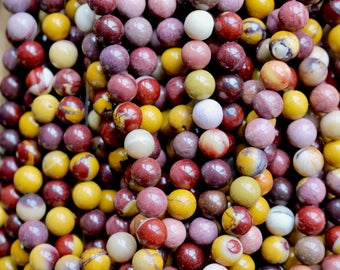 8mm Mookaite beads, full strand, natural stone beads, round, 80163