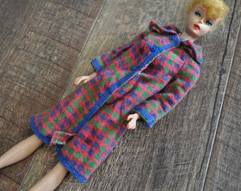Vintage Barbie Clothes - Long Houndstooth Jacket
