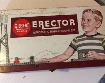 Gilbert Erector Automatic Radar Scope Set 10042 with manual and Motor LOOK