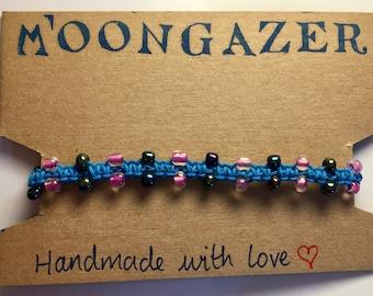 Beautiful beaded macrame bracelet