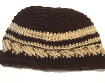 Crochet Celtic-Design Beanie