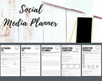 Social Media Planner, Content Planner, Social Media Content, Marketing Schedule, Marketing Planner, Business Planner, Social Media Organizer