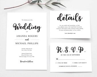 Wedding Invitation PDF, The Wedding Of Printable, Nordic Wedding Invitation, Wedding Invitation suite, Wedding Invitation Printable, PDF
