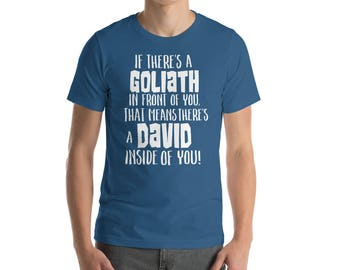 Christian Short Sleeve TShirt David and Goliath
