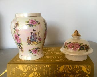 Sadler lusterware ginger jar // porcelain // Vintage  // Kitchen storage // Dundee jar // Christmas gifts // Birthday gifts // Home // Retro