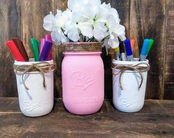 Mason Jar Home Decor/ Office Organization