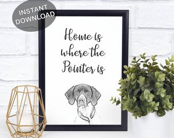 German Shorthaired Pointer - GSP - Pointer Art Print - Printable Wall Art - German Shorthaired Pointer Print - Stylish Dog Decor - GSP Gift