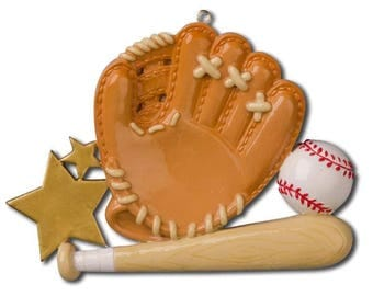 Baseball Glove Personalized Christmas Ornament