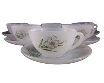 Arcopal Daffodil Demitasse Coffee Cup & Saucer – Set of Six
