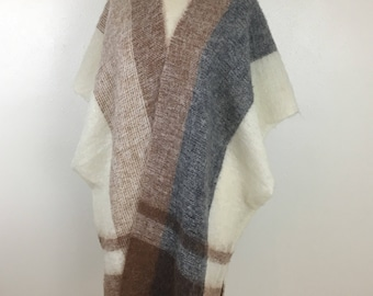 Women's Vintage Knit Poncho Sweater- Boho- One Size Fits Most