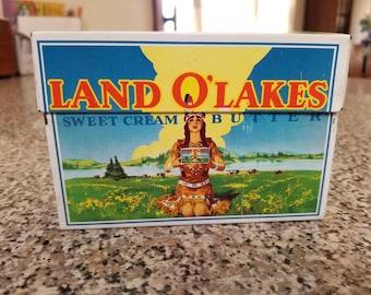 Vintage Land o Lakes Butter Tin